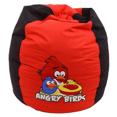 Red Black Angry Birds Bean Bag For Toddlers
