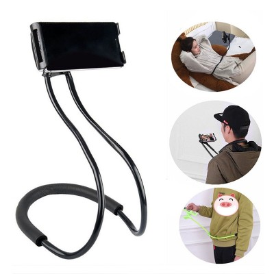 Black Flexible Lazy Hanging Neck Phone Stand