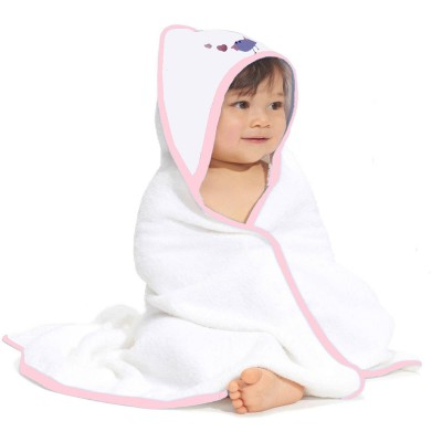 Pink Hooded Cotton Towel Bt Pink
