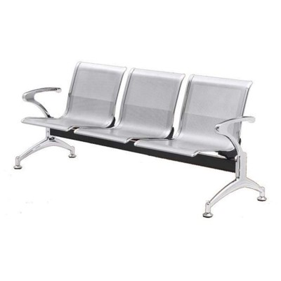 Silver 3 Seater Bench