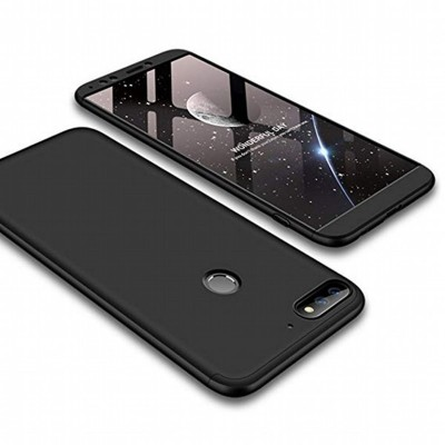 Huawei Honor 7c 360 Case with Glass Protector - Black