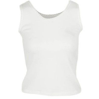 Thick Shoulder Camisole Vest-Off White