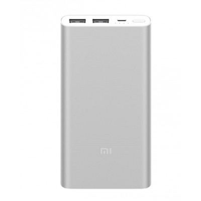 Mi POWER BANK 3 10000mah WITH 2INPUT AND 2OUTPUT QC3.0 FAST CHARGE (SILVER)