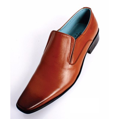Brown Formal Leather shoes-L1030C