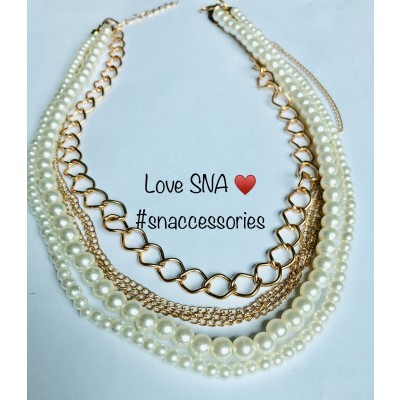 Pearl Multi Layers Chain Necklace