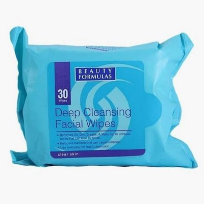 Deep Cleansing Facial Wipes-30 Wipes