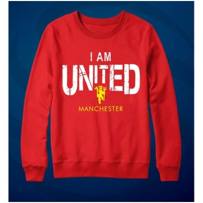 I M Manchester United Printed Sweat Shirt for Men & Women Unisex