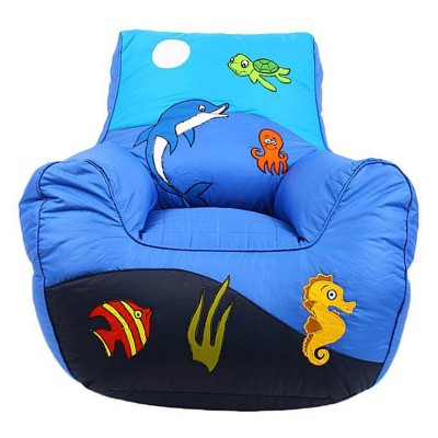 Blue Jungle Ocean Bean Bag Sofa For Kids
