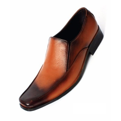Brown Formal Leather shoes-L1043C
