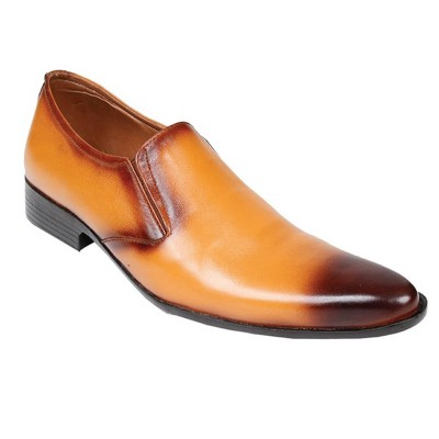 Mustard Formal Leather shoes-L1002C