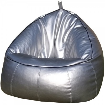 Trio Bean Bag Sofa Chair Leather For Children And Adults Room Furniture Bean Bag - Silver