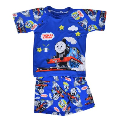Thomas Train Swimming Suit For Kids Blue (3 To 4 Years)
