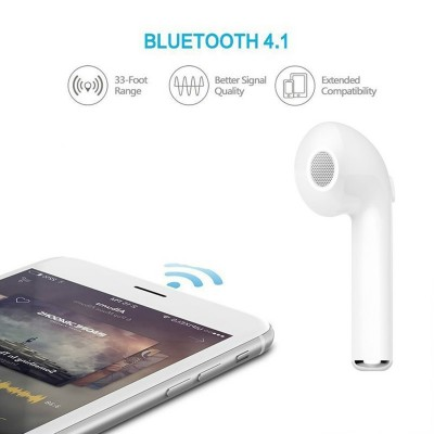 Wireless Bluetooth V4.1 Earphones Single Left Ear HBQ i7 for iPhone Smartphone