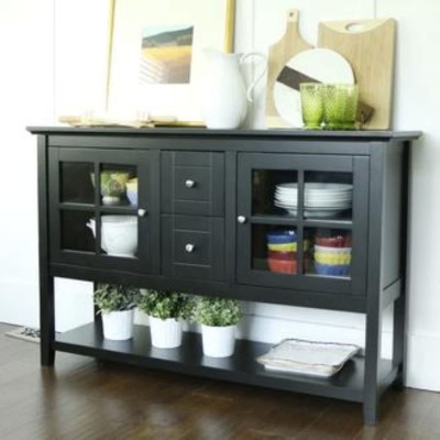 Black 52-Inch Console Table