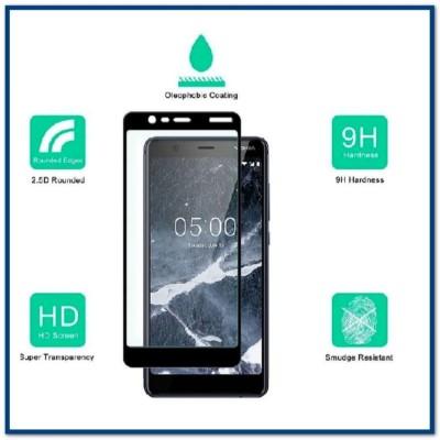 6D Tempered Glass Screen Protector For Nokia 5.1 (2018)-Black