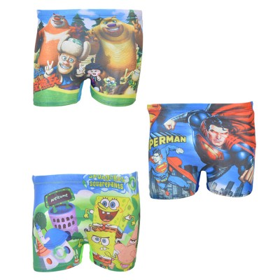 Pack Of 3 Multicolour Mini Swimming Shorts For Kids (For 2-4 Year Kids)