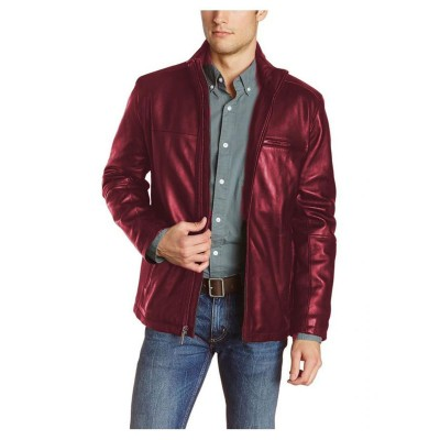 Maroon Faux Leather High street Jacket