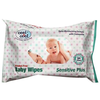 Baby Wipes 64 Pcs Sensitive Plus