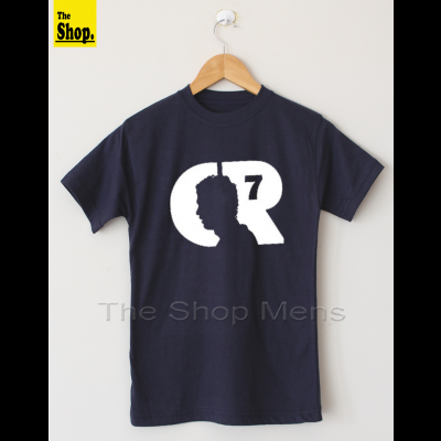 CR7 Navy Blue T-Shirt For Mens & Womens - RT-NB1