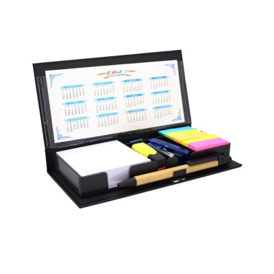 Desk Calender With Pen, Sticky Note & Sticky Slip For Office & Personal Use