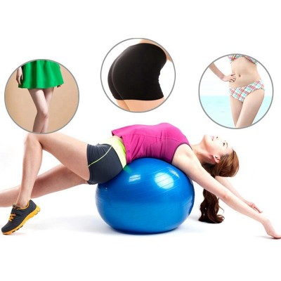 Yoga Ball Pilates Indoor Sport Fitness Balance Exercise Training Ball With Pump