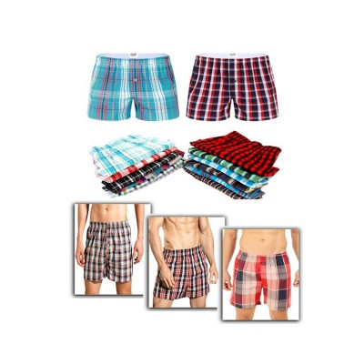 Pack Of 3 - Multicoloured Men's Checkered Boxer Shorts