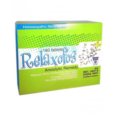 Relaxofos 180 Tablets Relieves Worry Stress Anxiety And Depression