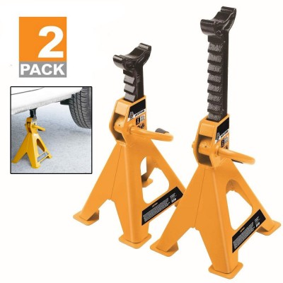 2PC 3 Ton Jack Stands | Ratcheting Heavy Duty Lift Lock Capacity Safety