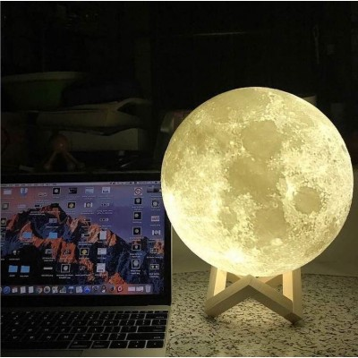 3D Moon Lamp with Touch & Tap (Multi-Color)