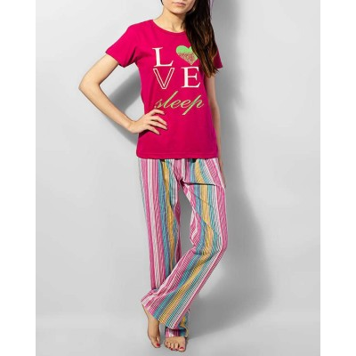 Single Jersey Cotton Love With Colofrul T-Shirt Pj Sp0041