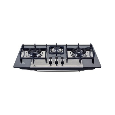 Nasgas Built In Hob DG-222 BK (Steel Top) Autoignition non stick paint coated