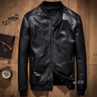 Black Slim Fit Pu Black Leather Jacket