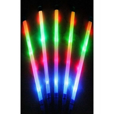 Pack Of 10 Large Fluorescent Flashing Party Rod