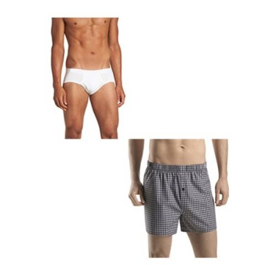 Pack of 2-Multicolour Cotton Boxer &  Inner Brief for Men-XL