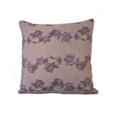 Floral Print Purple Cushion Cover