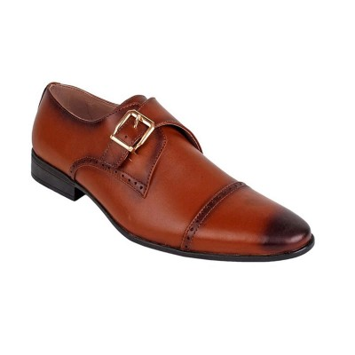 Brown Formal Leather shoes-L1057C