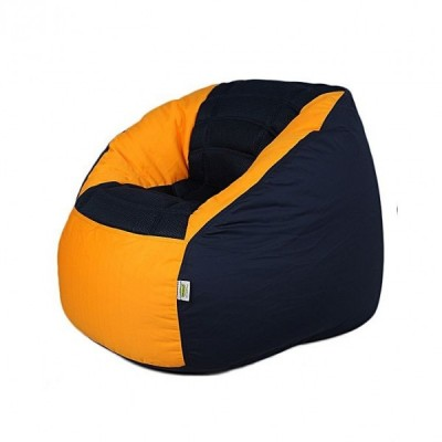 Polyester Sports Bean Bag Chair - Blue Yellow