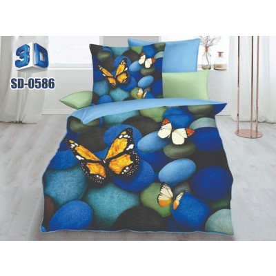 3D Silver Double Bedsheets.0586