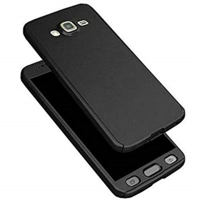 Samsung J7 360 Case with Glass Protector - Black