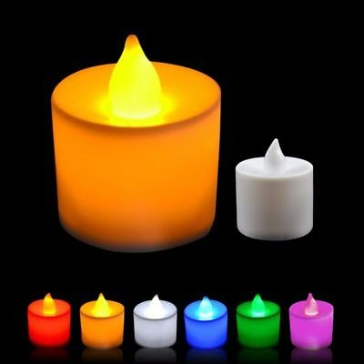 Pack Of 8 Flameless Multi Led Candles