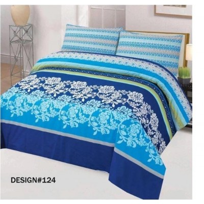 Printed Cotton Bed Sheet with 2 Pillows Cover