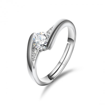 Silver Zircon Rings For Women No Fading