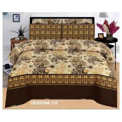 3 Pieces Printed Cotton Bed Sheets(100 % Cotton Stuff)