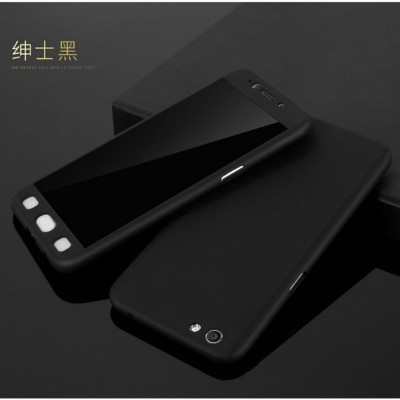 Oppo A37 360 Case with Glass Protector - Black