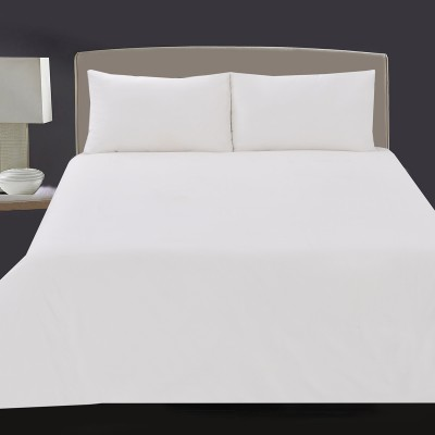 White Cotton Quilt Cover-1000000002255