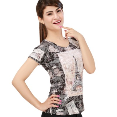 Multicoloured Summer Is Here Printed T-Shirt-FT-222-4