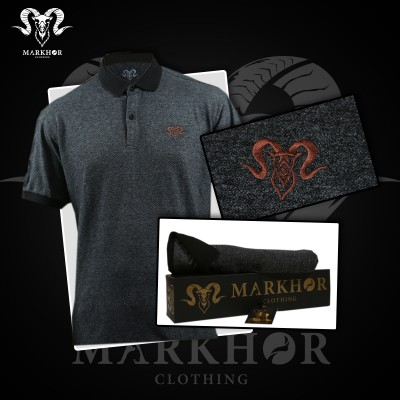 Royal Bronze Embroidered Charcoal Color Summer Polo Shirt