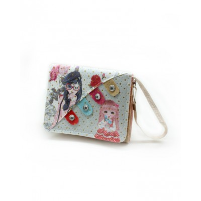 """Cartoon Clutch and Short Purse for Girls With Long Belt - 5x7"""""""