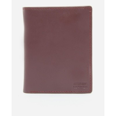 Maroon Cow Leather Wallet   Riz W 8