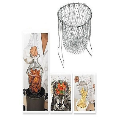 12 In 1 Kitchen Tool Chef Basket - Silver-ws-302